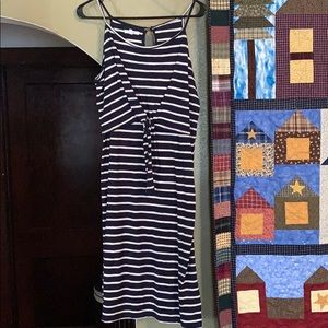 Maurices tie front striped dress